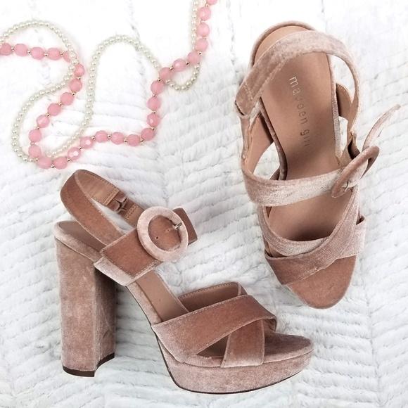 d41015ea798 Madden Girl G-Slick Velvet Velour Platform Heel 8